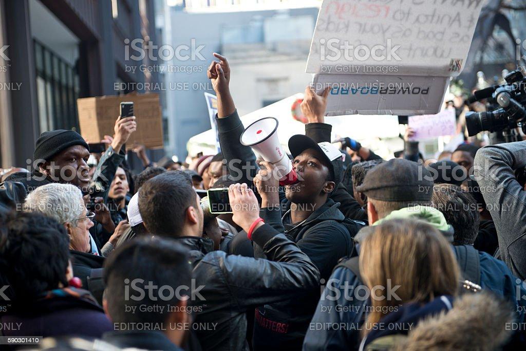 Rahm Resign Protest stock photo