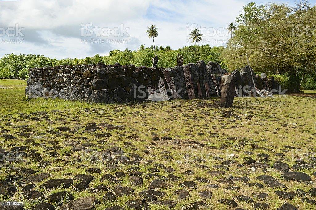 Raiatea, Society Islands Taputapu?tea Marae royalty-free stock photo