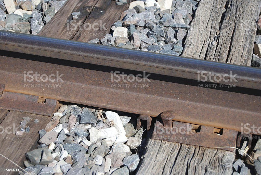 RR Rail and Tie royalty-free stock photo