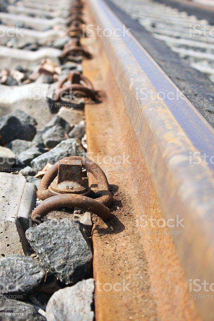 rail brackets stock photo