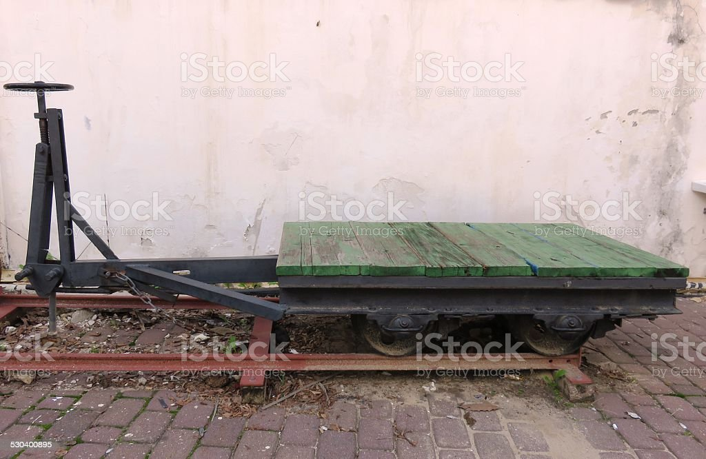 Rail carriages stock photo