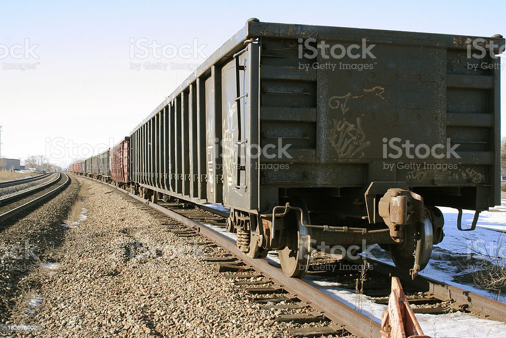 Rail Cars Lined Up royalty-free stock photo