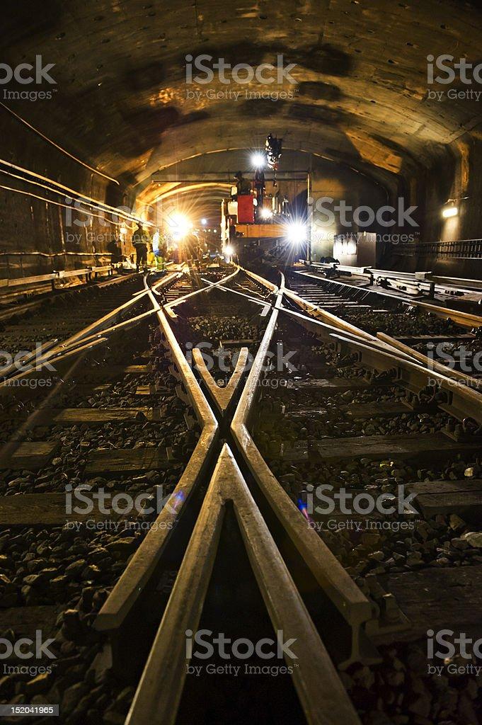 Rail connection stock photo
