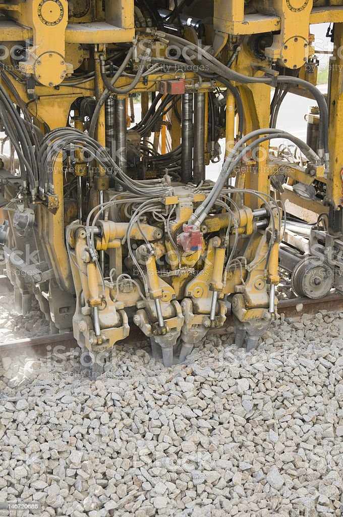 Rail construction equipment royalty-free stock photo