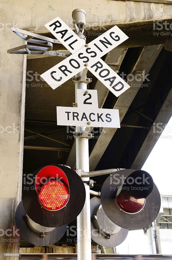 Rail Cross royalty-free stock photo