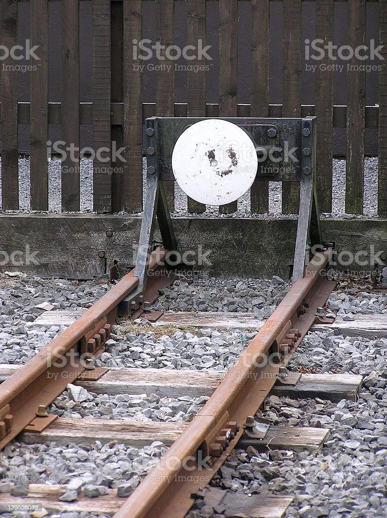 Rail End stock photo