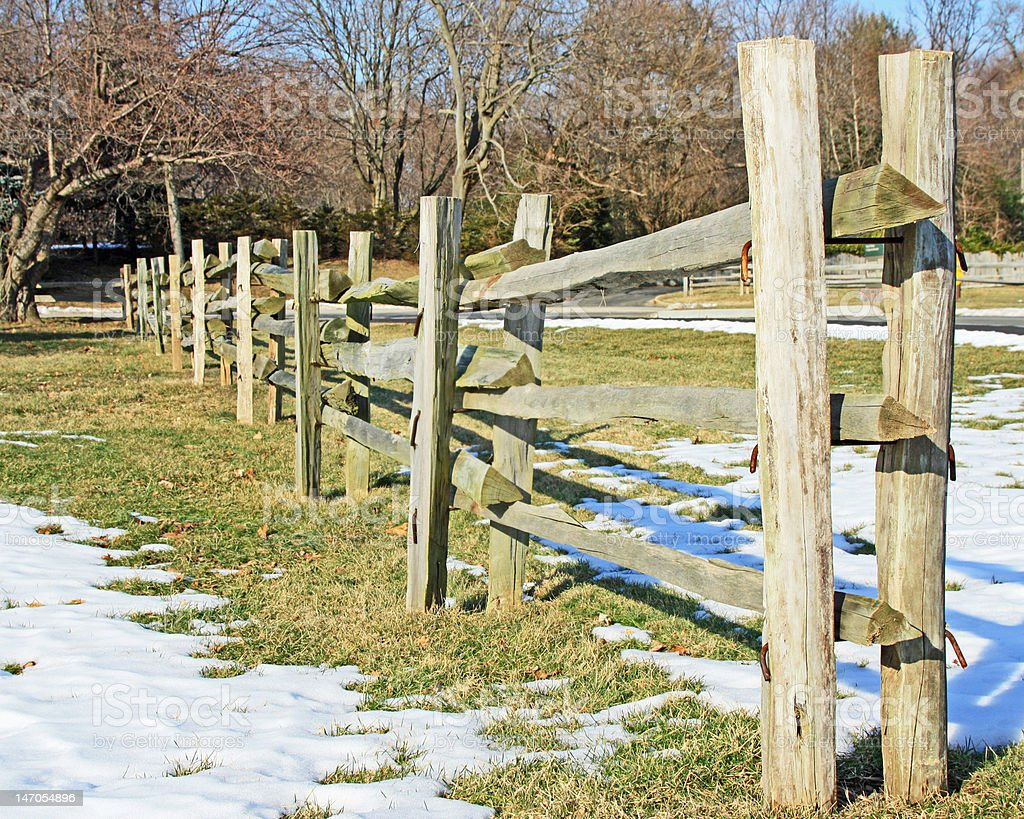 Rail Fence royalty-free stock photo