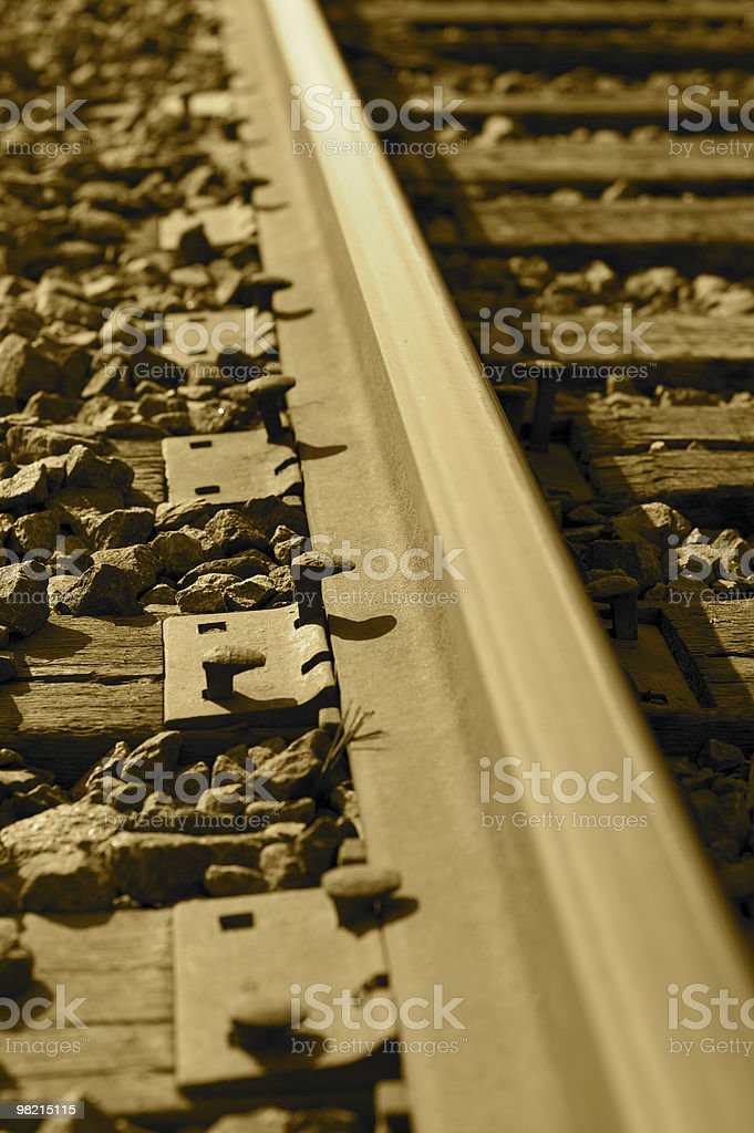 Rail in Sepia royalty-free stock photo