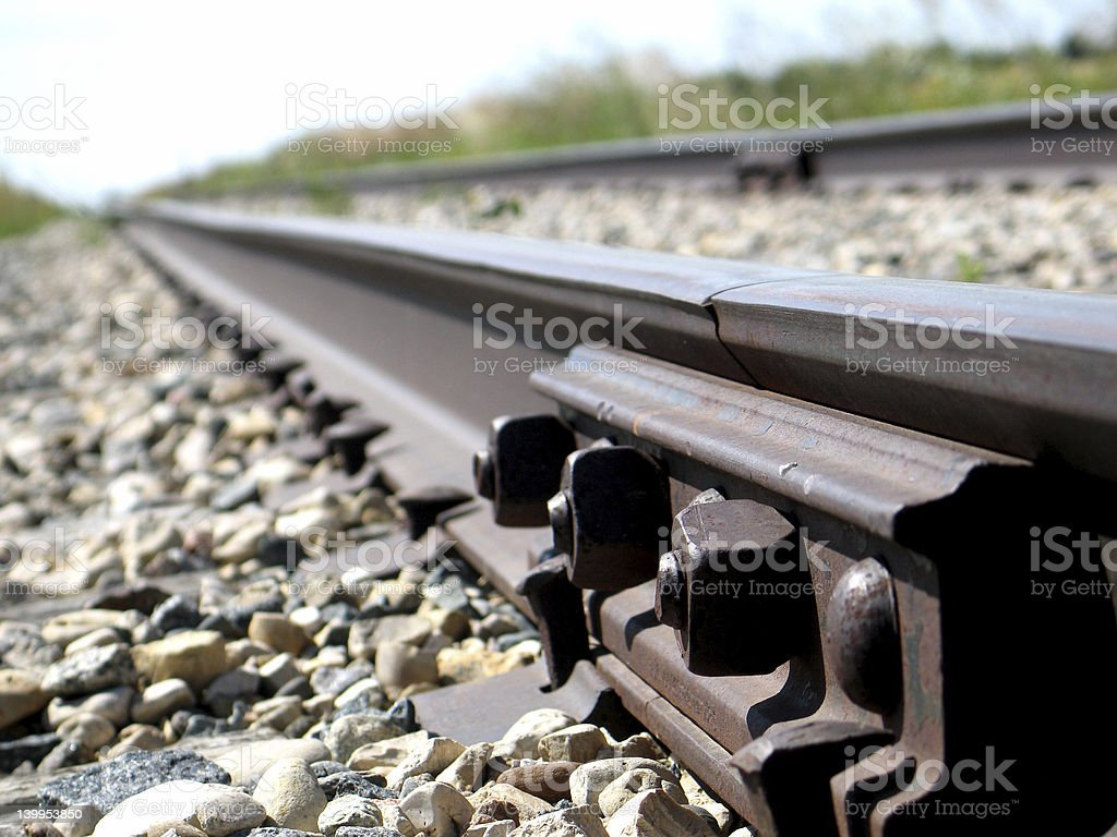 rail joint stock photo