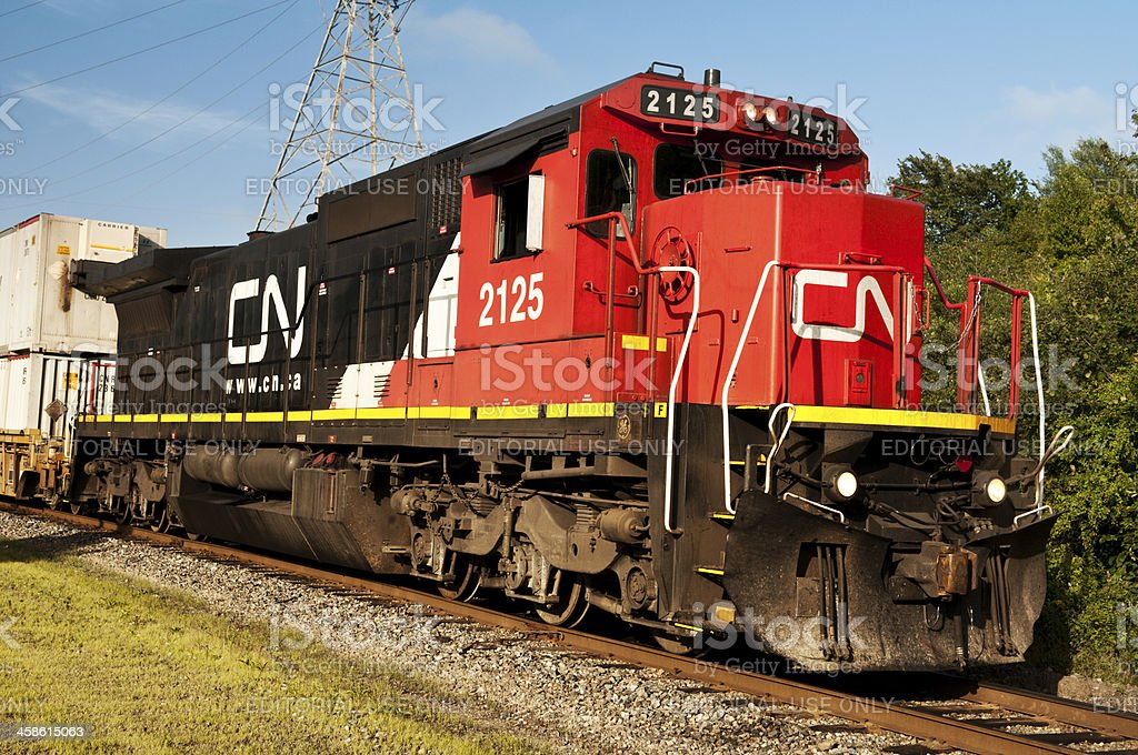 CN Rail Locomotive stock photo