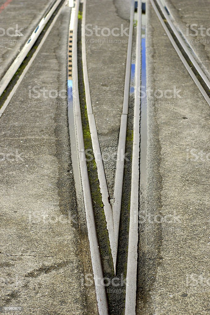 Rail or peoples lives royalty-free stock photo