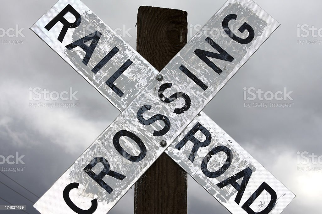 Rail Road Crossing Sign royalty-free stock photo