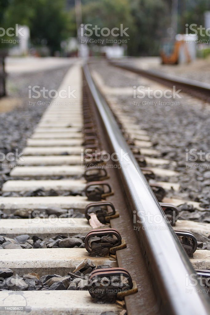 Rail road track royalty-free stock photo