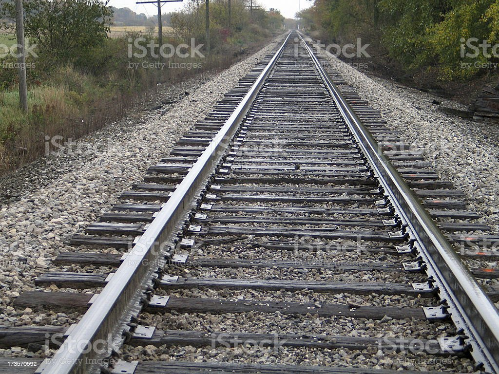 Rail Road Tracks In The Country royalty-free stock photo