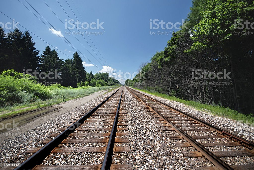 Rail Road Tracks royalty-free stock photo