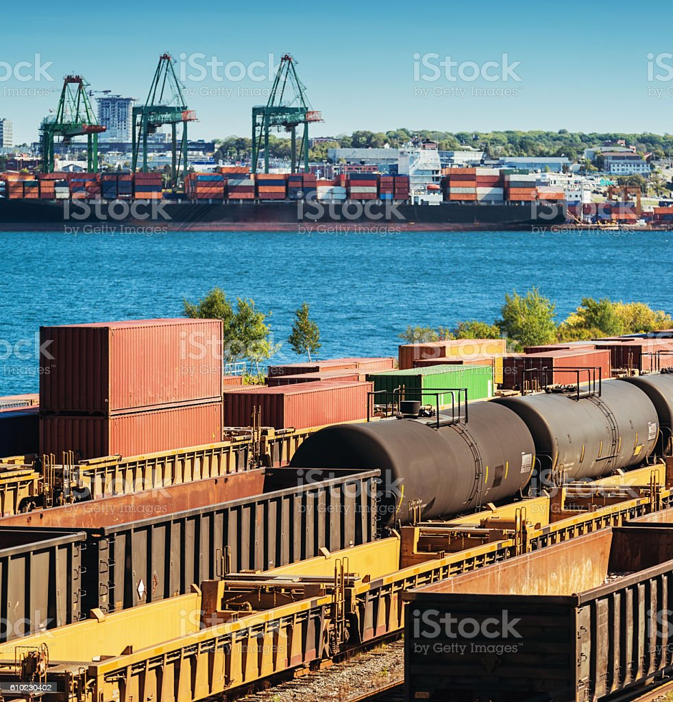 Rail Shunting Yard stock photo