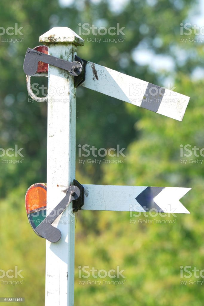 rail signal stock photo