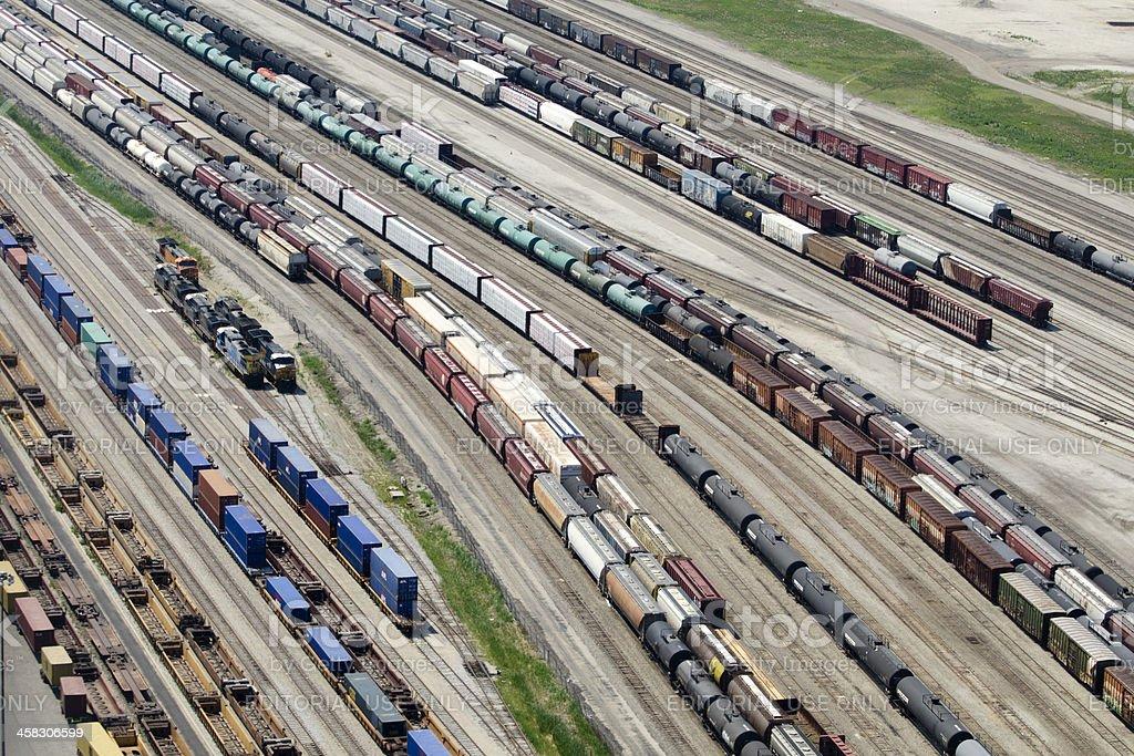 rail terminal stock photo
