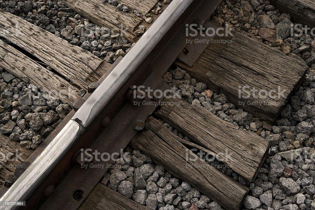 Rail track close up royalty-free stock photo