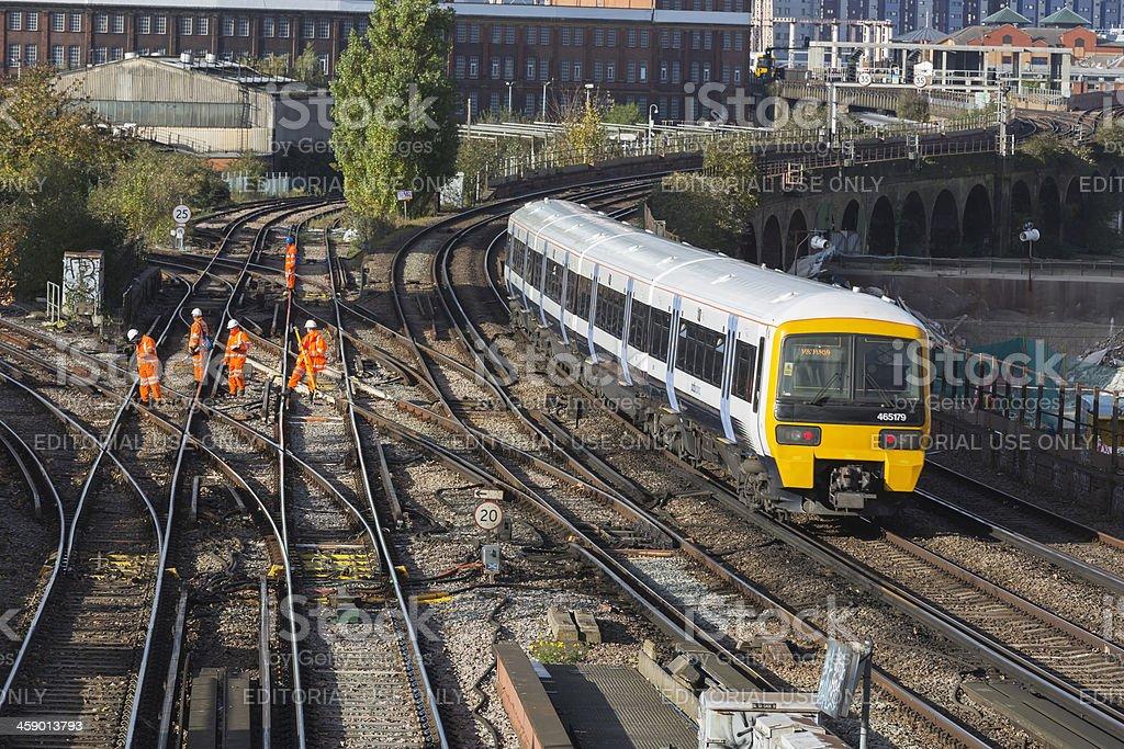 Rail track maintenance stock photo