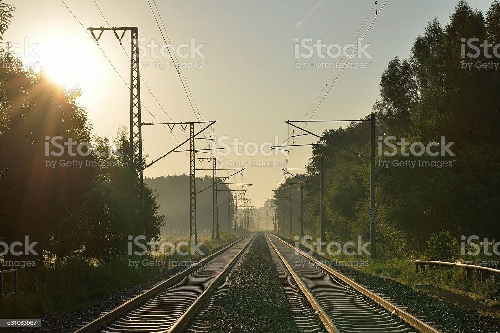 Rail track stock photo