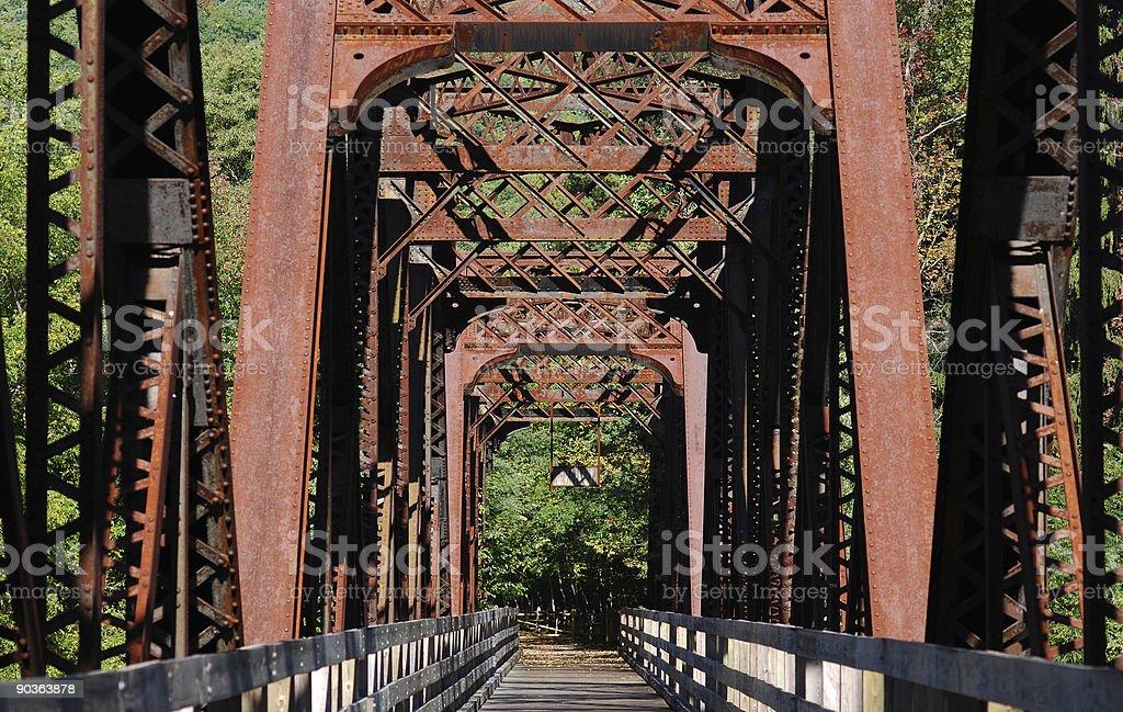 Rail Trail ponte de conversão foto royalty-free