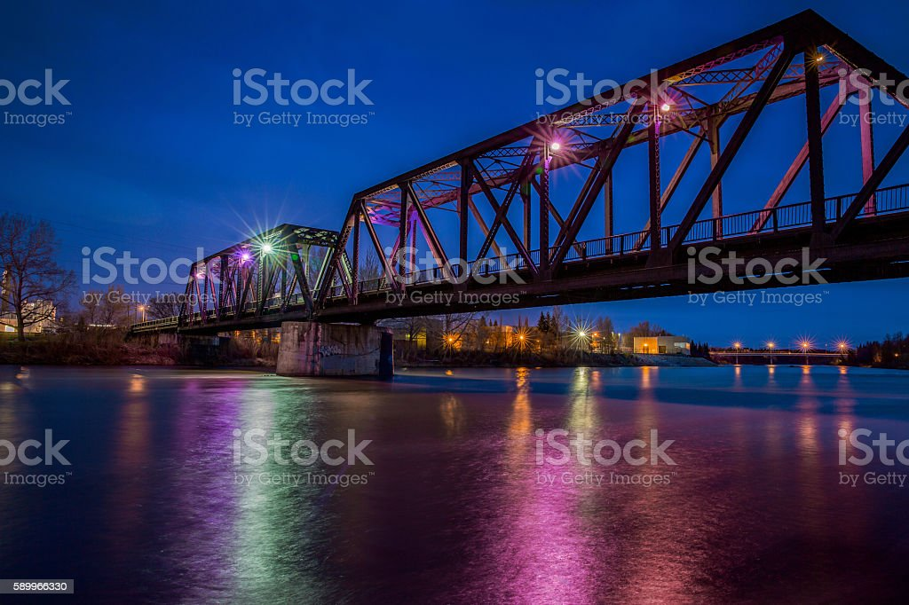 CP Rail Train Bridge stock photo