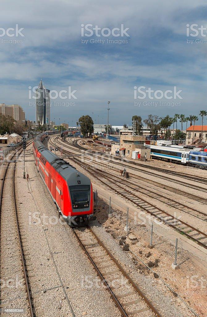 rail trains stock photo