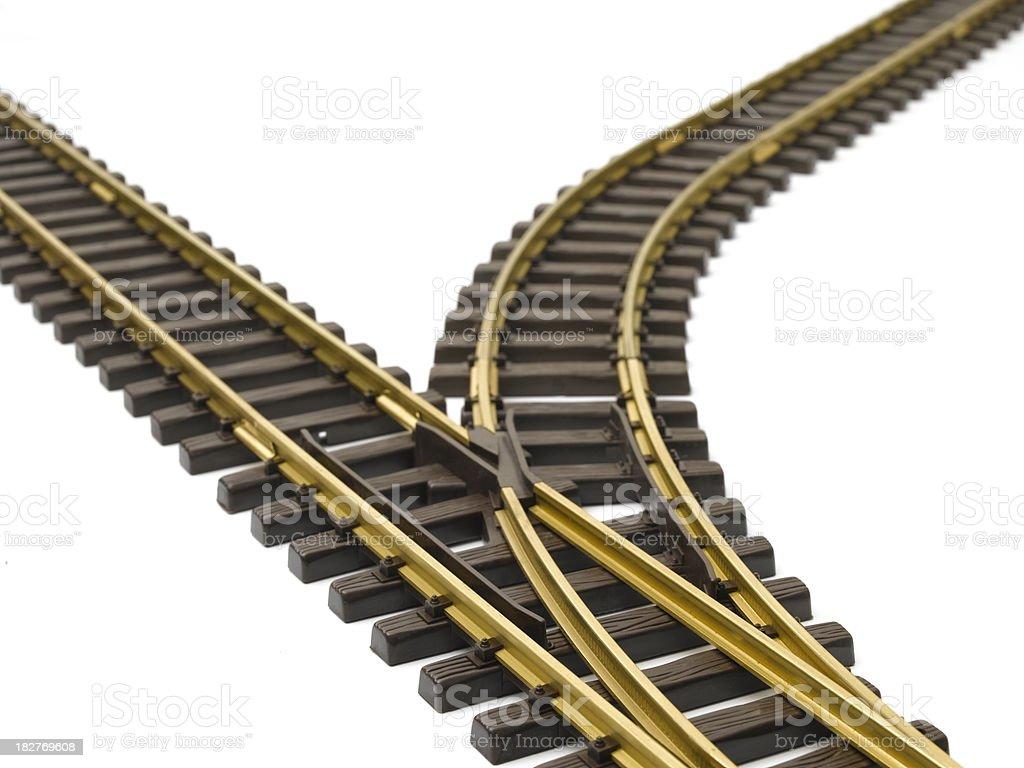 rail way junction royalty-free stock photo