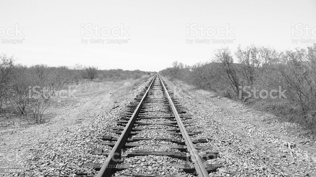 Rail way stock photo