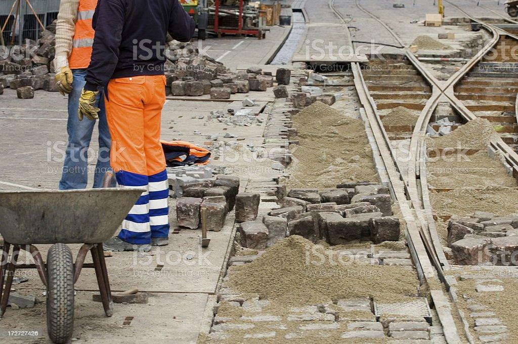 Rail works royalty-free stock photo