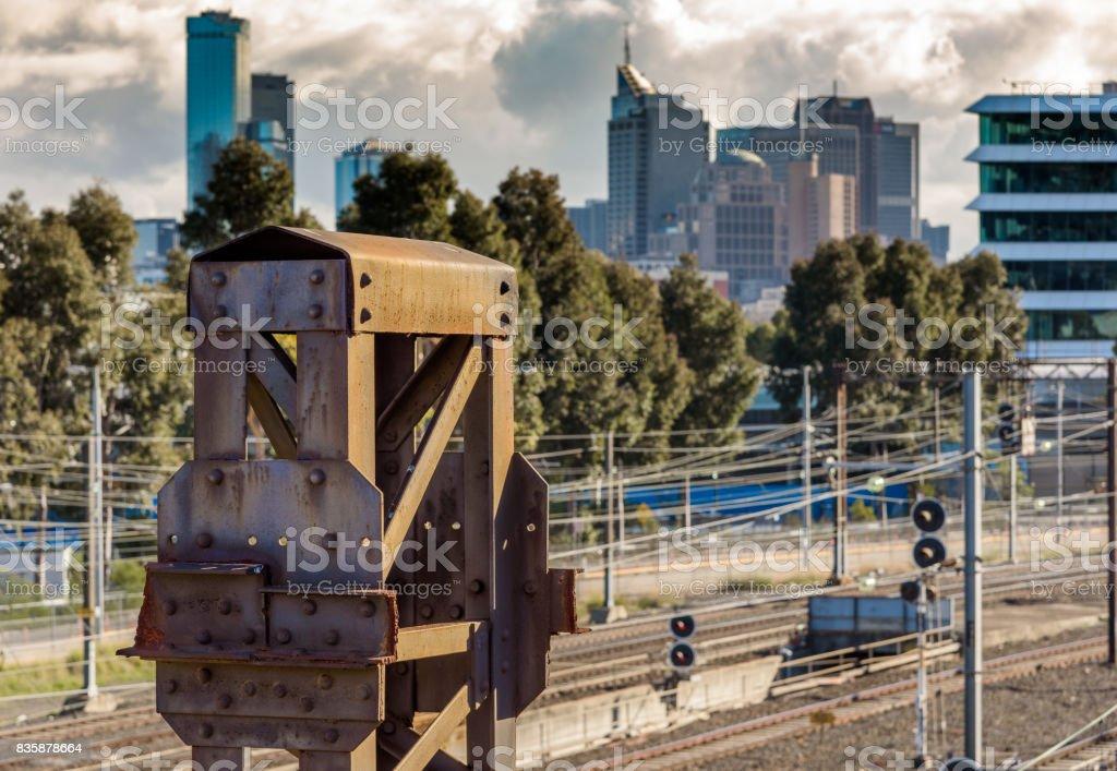 Rail Yard stock photo