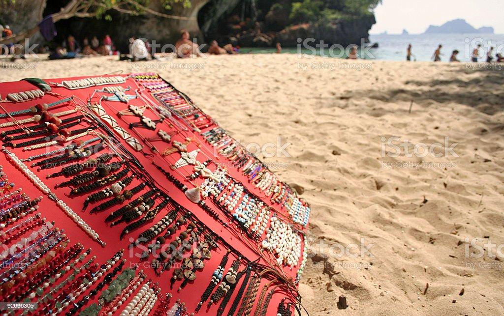 railay beach bracelets for sale thailand royalty-free stock photo