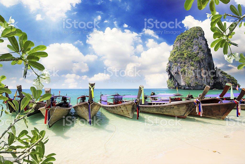 Railay beach in Krabi Thailand royalty-free stock photo