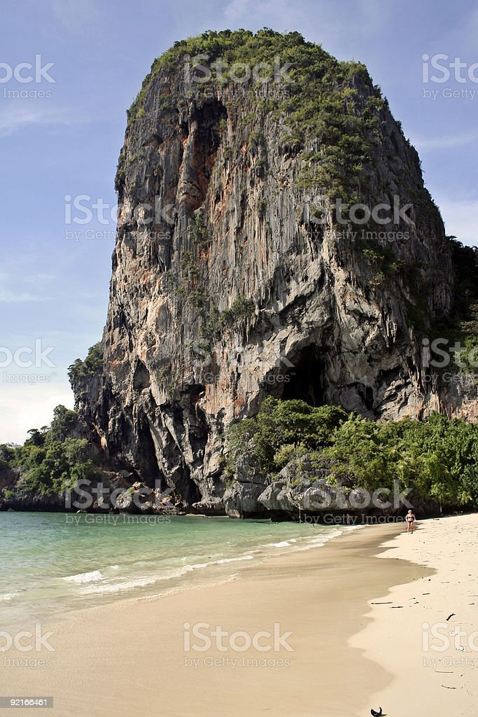 railay beach karst krabi royalty-free stock photo