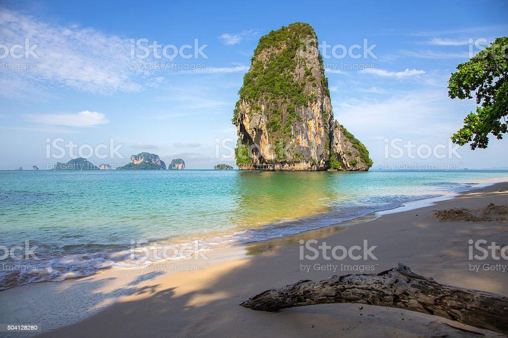 Railay beach. Krabi, Thailand stock photo
