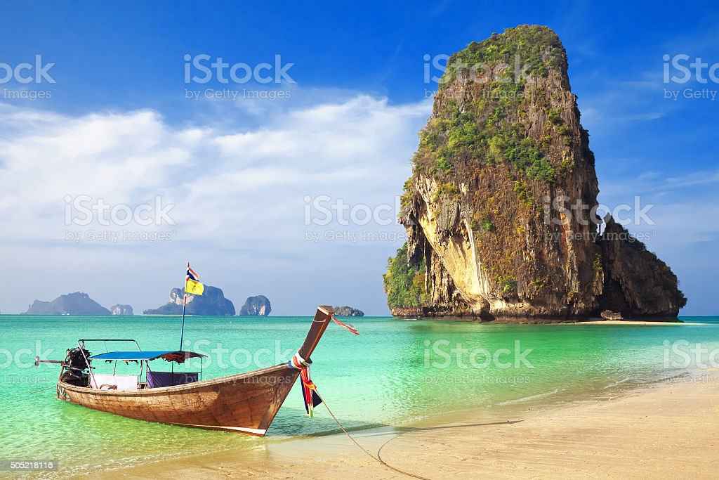 Railay beach, Krabi. Thailand stock photo