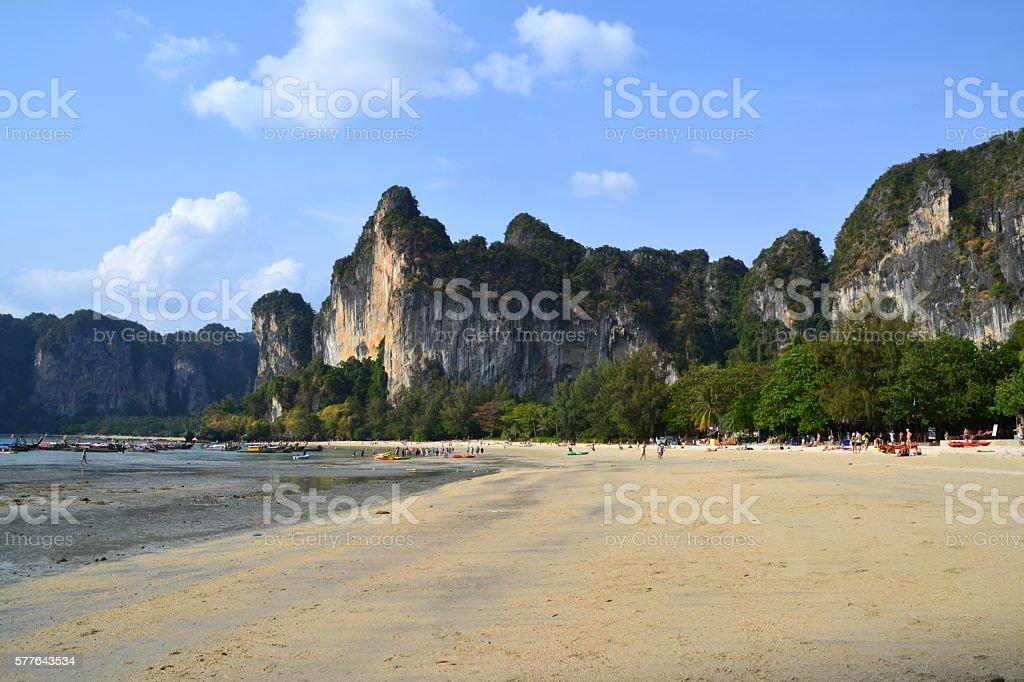 Railay beach, Krabi, Thailand stock photo