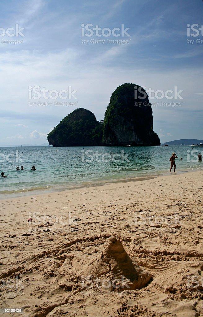 railay beach krabi thailand royalty-free stock photo