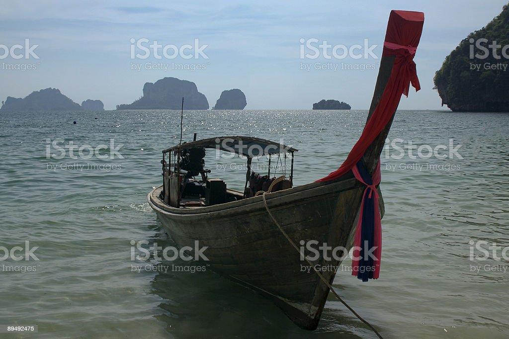 railay beach longtail boat thailand royalty-free stock photo