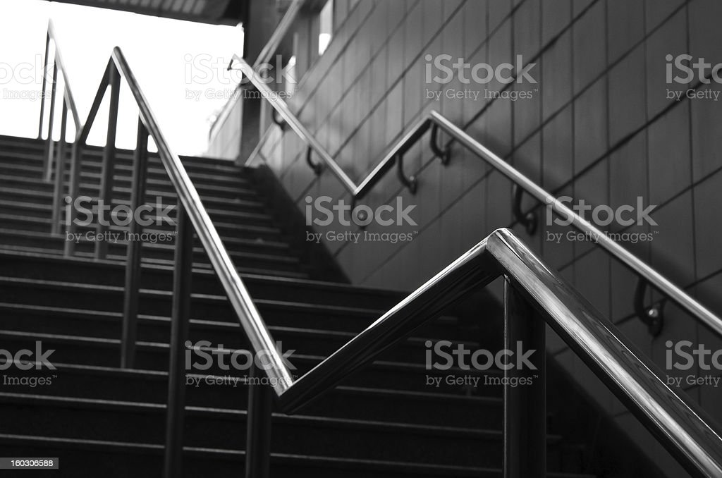 Railings and stairs royalty-free stock photo