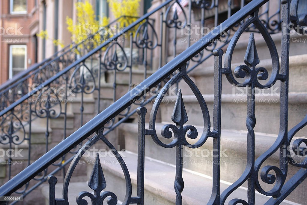 railings in a row royalty-free stock photo