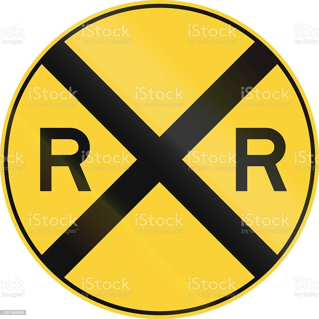 Railroad Ahead stock photo