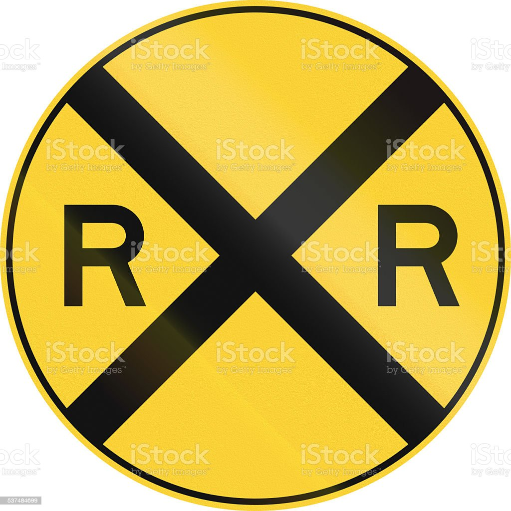 Railroad Ahead stock photo