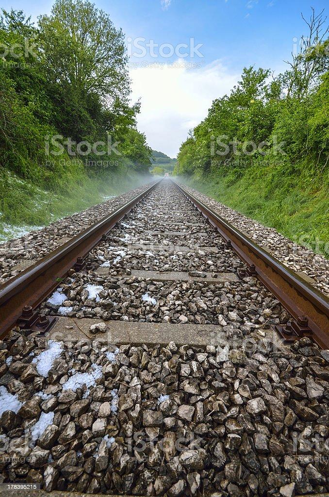 railroad and hail royalty-free stock photo