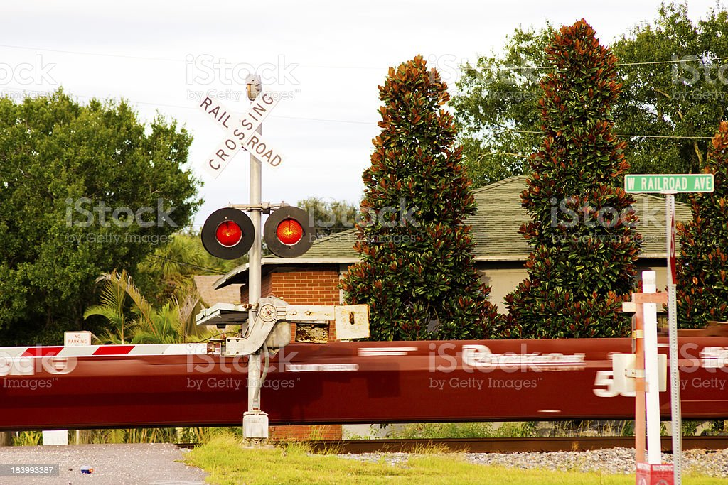 Railroad Ave royalty-free stock photo