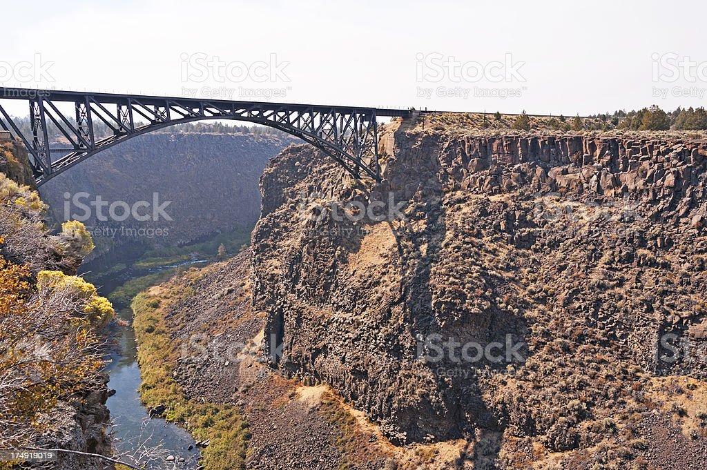 Railroad Bridge over Crooked River royalty-free stock photo