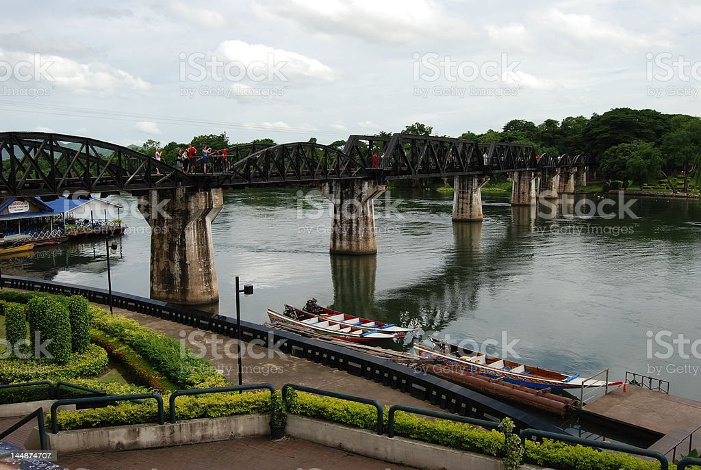 Railroad bridge over Kwai River, Thailand royalty-free stock photo
