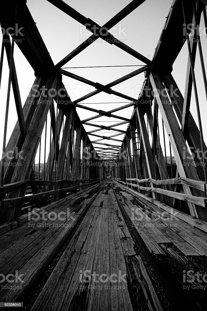 railroad bridge royalty-free stock photo