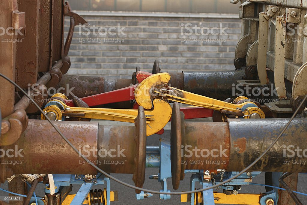 Railroad Car Buffers stock photo